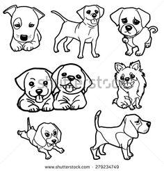 Puppy Stock Vectors & Vector Clip Art   Shutterstock