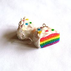 Rainbow Cake Earrings - Fabulously celebrating equality! ;3