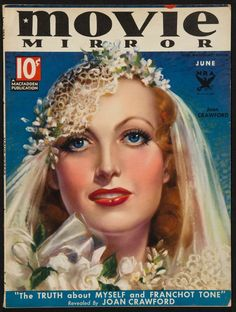 Movie Mirror, Joan Crawford (June) by Zoë Mozert