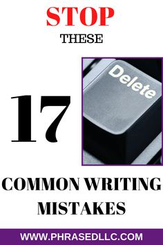 Most common writing mistakes to avoid when writing on your blog or website. Tips to avoid common English errors that can hurt your brand or message. #commonwritingmistakes #writingmistakes #Englishwritingmistakes Article Writing, Writing A Book, Writing Tips, Business Writing, Business Tips, Online Business, Creating A Portfolio, Creating A Blog, Nouns And Verbs