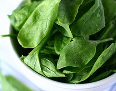 For sharpening vision    Spinach offers a trifecta of ingredients for enhancing eye health: beta-carotene, lutein, and vitamin E. Loading your kids with these nutrients while they're young can help keep their vision clear and bright as they grow older