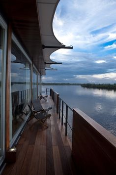 Embark on twin river cruisers, 'Aqua' and 'Aria'  for three nights sailing on the mighty Amazon - http://www.abercrombiekent.com.au/privatejet/islands-savannas-the-amazon.cfm