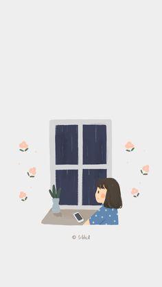 Kawaii Wallpaper, Pastel Wallpaper, Tumblr Wallpaper, Wallpaper Backgrounds, Iphone Wallpaper, Hight Light, Cute Cartoon Wallpapers, Illustrations And Posters, Anime Art Girl