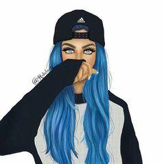 A rocking girl Girly M, Best Friend Drawings, Girly Drawings, Girl Cartoon, Cartoon Art, Girl Pictures, Girl Photos, Tomboy Art, Sarra Art