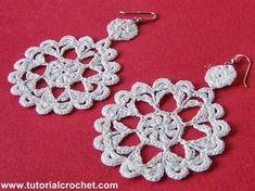 Tutorial Crochet: Orecchini Crochet: Tutorial Uncinetto