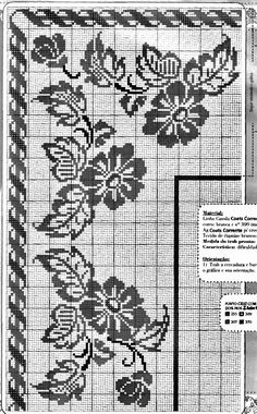 @nika Filet Crochet, Crochet Motif, Crochet Lace, Crochet Patterns, Cross Stitch Borders, Cross Stitching, Cross Stitch Patterns, Crochet Tablecloth, Bargello