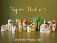 Paper Nativity- free printable!