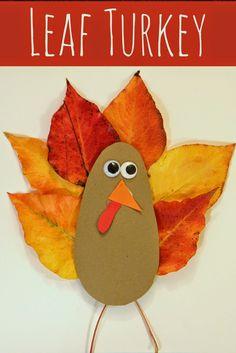 Toddler Approved!: Leaf Turkey Card
