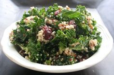 No joke, my roommate and I have eaten this salad four days in a row–it's that good. It's also one of the easiest and quickest recipes, aside from the time it takes to cook the quinoa, which is all of 10-15 minutes. The lemon-mustard vinaigrette compliments the salad wonderfully, and tames the bitterness of the …
