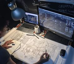 Ask any experienced architect and they will tell you this: The quickest way to design is to sketch your ideas out before testing it in 3D. Then repeat the whole process again till you've achieved your desired results. Photo by @thufeil #ArchiSketcher championing drawing for all