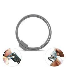 MAGKEY Stainless Steel Magnet Keychain Ring