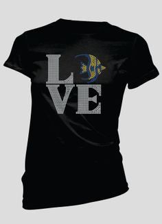 LOVE Fish Rhinestone TShirt by BellaBlingOnline on Etsy, $26.99