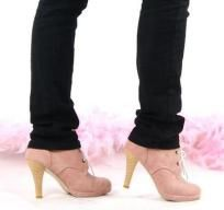 Stylish Suede 2.7 in Lace-Up Round Toe Pumps (4 Diff Colors)