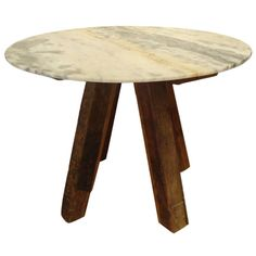 wood beam & raw marble table #musthave