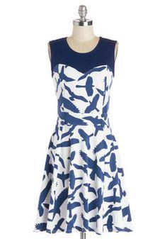 Chic Commute Dress in Birds, #ModCloth