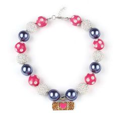 Doc McStuffins Inspired Pink Heart Necklace Doc Mcstuffins, Chunky Beads, Pandora Charms, Inspired, Heart, Bracelets, Pink, Jewelry, Jewlery