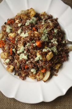 Easy Mediterranean Red Quinoa Salad Recipe | Healthy & Vegan