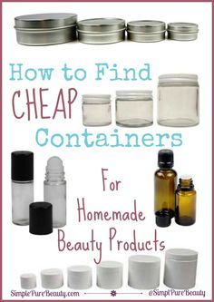 How to Find Cheap Containers for Homemade Beauty Products. You can recycle empty containers around the house or you can buy containers for your homemade beauty products. Beauty How to Find Cheap Containers for Homemade Beauty Products Homemade Beauty Recipes, Homemade Beauty Products, Pure Products, Natural Products, Body Products, How To Make Beauty Products, Diy Spa Products, Makeup Products, Homemade Shampoo Recipes