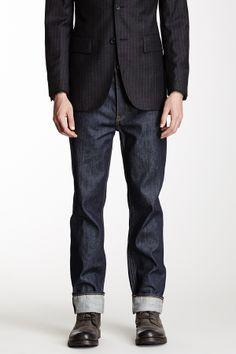 BLK DNM Topstitch Straight Leg Jean, Black Linen Jacket, and Black Shoes. Men's Spring Summer Fashion.