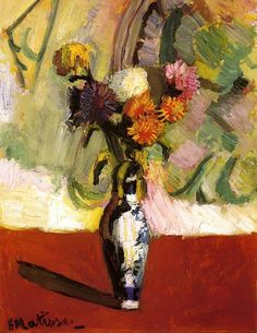 BO FRANSSON: Chrysanthemums in a Chinese Vase, 1902 Henri Matisse