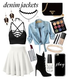 """""""Denim Jackets"""" by keypette ❤ liked on Polyvore featuring Kendall + Kylie, Casetify, By Terry, OPI, MAC Cosmetics, Prada, Kate Spade, NARS Cosmetics and Givenchy"""