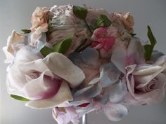 vintag hat, floral hat, millineri flower