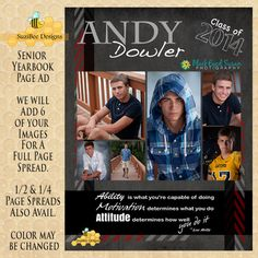 1000 images about yearbook pages on pinterest senior for High school football program template