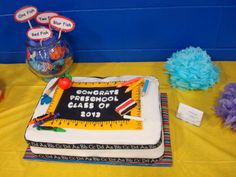 A cake I did for our preschoolers graduation