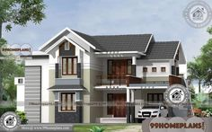 Modern Two Story House Designs with Fusion Style Simple Plan Collection Bedroom Designs India, Bedroom Designs For Couples, Small Bedroom Designs, Modern Bedroom Design, Two Story House Design, Simple House Design, Interior Design Pictures, House Design Photos, 20x30 House Plans