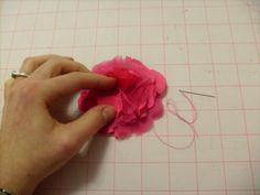 Adventures in Dressmaking: Fancy fabric flowers two ways: tutorial