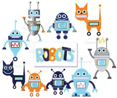 INSTANT DOWNLOAD Robo by clipartland on Etsy, $3.99