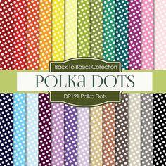 Polkadots Digital Paper DP121 - Digital Paper Shop - 1