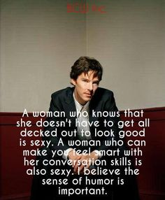 Right here Cumberbatch :: I would hope I could live up to his ideal, but yeah *blush*