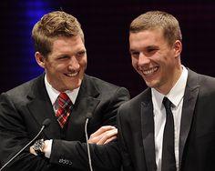 Lukas Podoksi and Bastian Schweinsteiger