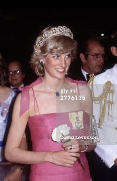 April 11, 1983: Princess Diana at a State Reception at the Crest Hotel in Brisbane, Queensland.
