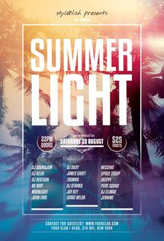 Summer Light Flyer by styleWish (Download PSD file)