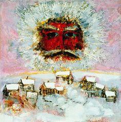 Reidar Särestöniemi Father Figure, Adventures In Wonderland, Through The Looking Glass, Winter Solstice, Contemporary Paintings, Art Inspo, Design Art, Artsy, Sky