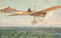 Postcard: AEROPLAN ANTOINETTE1910 Flug-und Sportplatz Berlin- Johannisthal