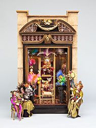 Bluette Meloney designs and creates dollhouse miniature scale rooms and scenes with faux finishes and other realistic effects and textures. Barbie Furniture, Dollhouse Furniture, Dollhouse Ideas, Miniature Rooms, Miniature Houses, Diy Doll Miniatures, Altered Boxes, Tiny Treasures, Little Houses