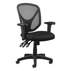 Realspace MFTC 200 Multifunction Ergonomic Super Task Chair Black, Overall Dimensions 41 x x 25 Meets andor exceeds ANSIBIFMA performance standards at Office Depot & OfficeMax. Best Ergonomic Office Chair, Best Office Chair, Ergonomic Chair, Office Chairs, Office Furniture, Desk Chairs, Dining Chair, Studio Furniture, Wooden Chairs