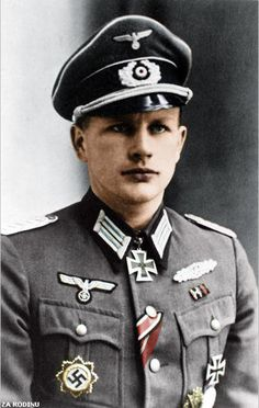 Highly decorated German officer in the Wehrmacht. He was one of 98 soldiers to have been awarded both the Knight's Cross of the Iron Cross a...