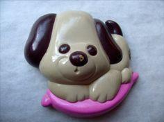 Avon solid perfume puppy brooch