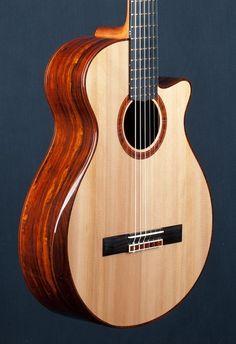 Classical guitar with ergonomic cut. Interesting...