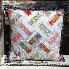 Looking for your next project? You're going to love Domino patchwork pillow or mini quilt by designer Tikki Patchwork.