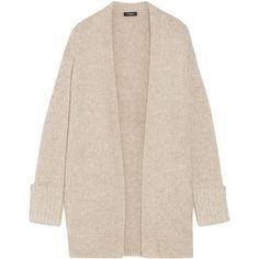 Theory - Analiese Alpaca-blend Cardigan (3.865 ARS) ❤ liked on Polyvore featuring tops, cardigans, beige, pink cardigan, theory tops, beige top, cardigan top and pink top