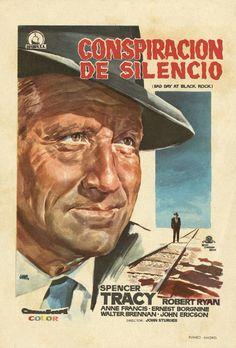 161.  JANO. Conspiración de silencio. Dirigida por  John Sturges. Madrid: Rumbo, [1955]. #ProgramasdeMano #BbtkULL #Diseñadores #Jano #DiadelLibro2014