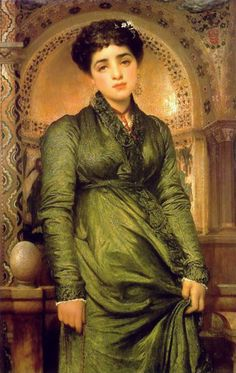 Girl in Green by by Lord Frederick Leighton (1830 - 1896)