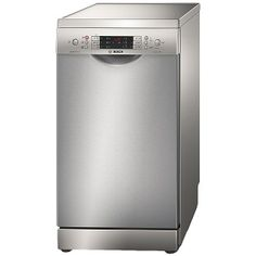 This Bosch Series 6 Slimline Dishwasher with stylish Stainless Steel finish looks great in any home. Slimline Dishwasher, Small Dishwasher, Dishwasher Tabs, Best Appliances, Kitchen Appliances, Kitchens, Dining Plates, Plate Racks, Home