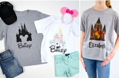 Disney Tees Customized (for the family)