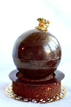 Mango, Apricot, and Dark Chocolate Sphere
